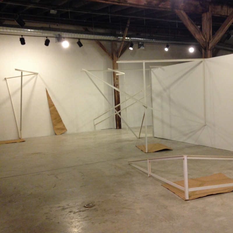 Installation view of Interior/Exterior: Structural Constellations, ATHICA, Athens, GA, 2014