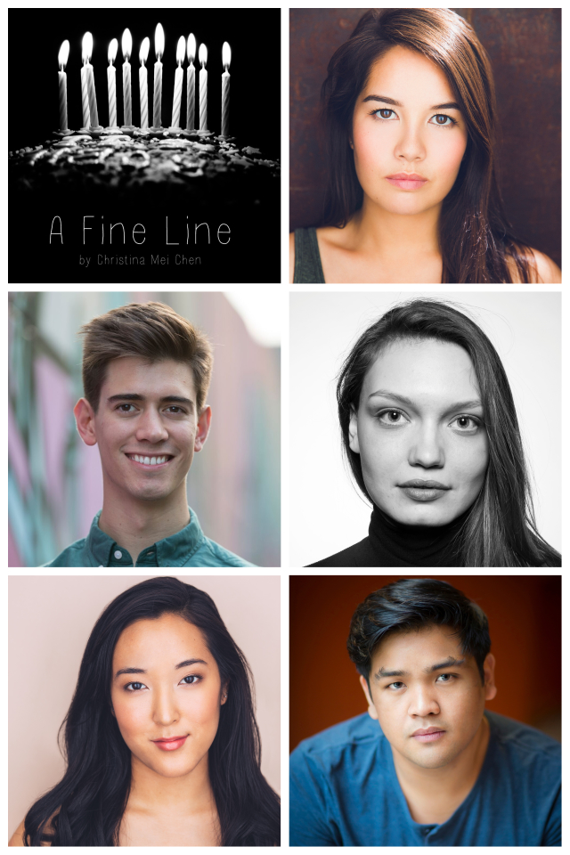 Christina's Original One Act to be produced at Manhattan Repertory Theatre - Christina's original One Act, A Fine Line, will be produced at Manhattan Repertory Theatre as part of their Fall Play Competition. Limited engagement from 9/21-9/29. Tickets and more information here.SYNOPSIS: It's Blair's 21st birthday, and her roommates Warwick and Jamie promised to celebrate with a chill night of thai food and wine in their college apartment. Before they can even cut the cake, the conversation goes south and Blair walks a fine line trying to express her concerns about Jamie's boyfriend. The night ends abruptly, causing their whole world to shift. Warwick and Blair try to cope with the aftermath, wondering if they should have crossed the line sooner.