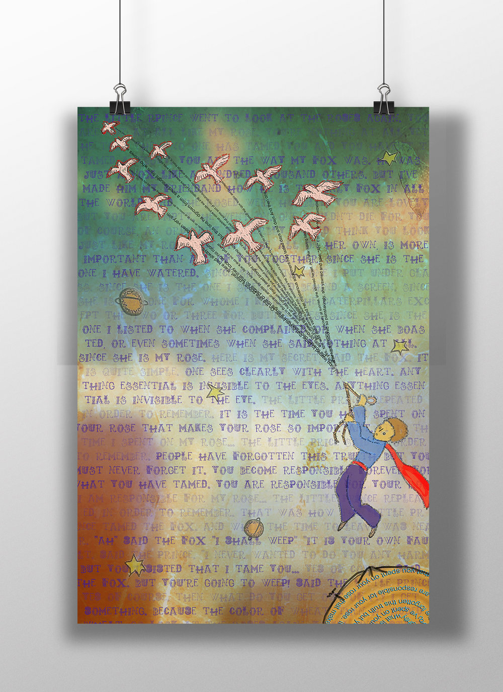 Little Prince Library Art