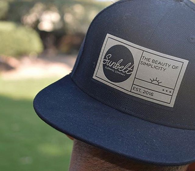 Hey guys! Remember a few weeks ago when I promised I'd show you the finished product of the hat I designed?! Well, here it is! 😍 Seeing what I made printed on its intended media is so rewarding 😌 swipe to see the other hats I've designed these last few months, and go to sunbeltclothingco.com to sport one yourself!!