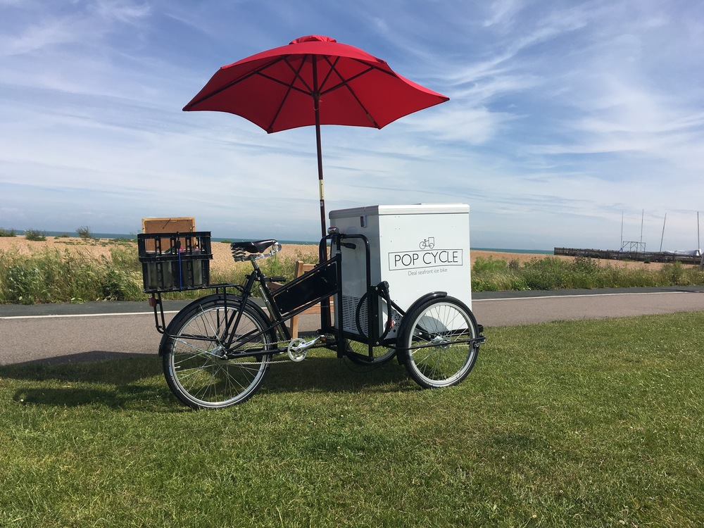 Our beautiful British built Pashley trike. Just scream stop for ice creams.