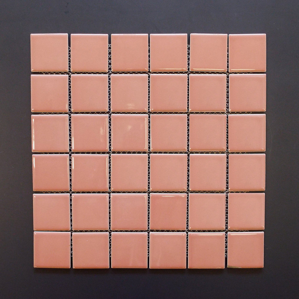 "SQ 058 - 2""X2"" Shiny Peach (check availability)  30 PC/CTN (32.64 SF);  36 CTN/PLT"