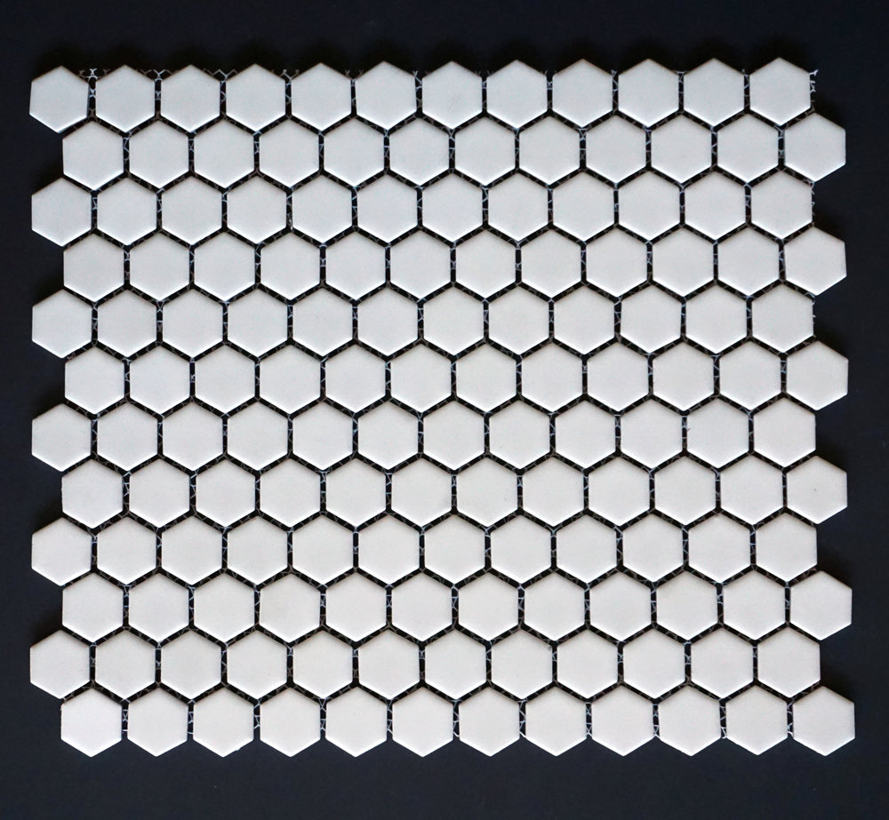 "HEX 1010 - 1"" Matte White Hexagon  20 PC/CTN (21.8 SF); 54 CTN/PLT"