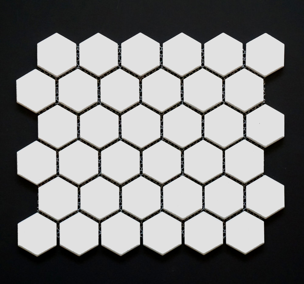 "HEX2 1010 - 2"" Matte White Hexagon  20 PC/CTN (19.6 SF);  54 CTN/PLT"
