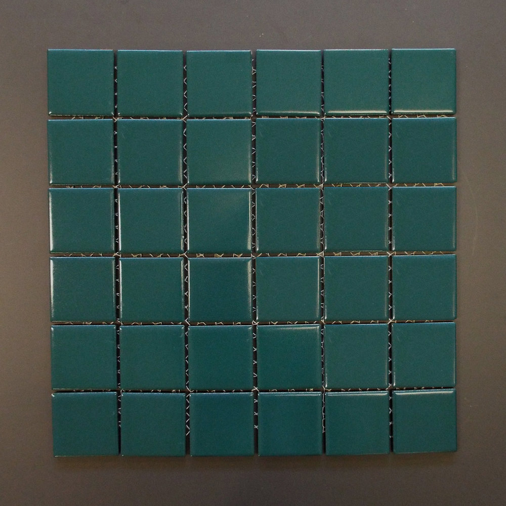 "SQ 1034K - 2""X2"" Matte Teal (check availability)  20 PC/CTN (21.60 SF);  45 CTN/PLT"