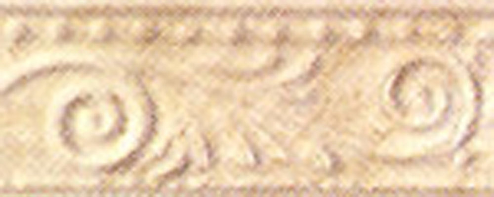 "Grespania Krimiss Beige 4""x10 Listello Sold by piece"