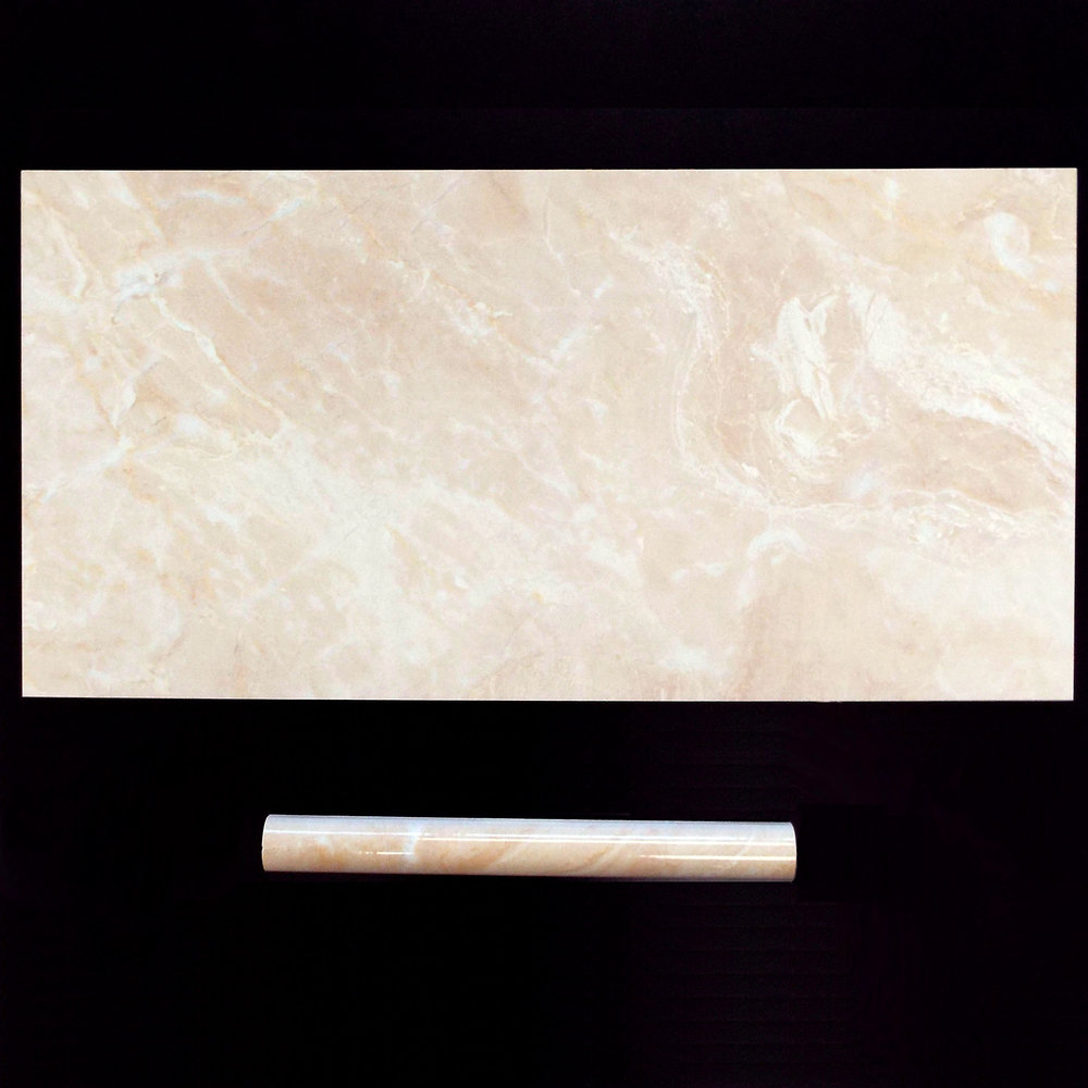 "CREMA VALENCIA  12""X24"" GLOSSY WALL - 8 PC/CTN (15.50 SF); 48CTN/PLT  1.2""X12"" TORELLO - 40 PC/CTN  No matching floor."