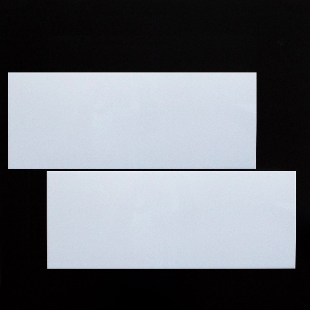 "8""X20"" (10mm thickness) WHITE, GLOSSY - 12 PC/CTN (12.92 SF); 64 CTN/PLT  3""X20"" BULLNOSE - SPECIAL ORDER"