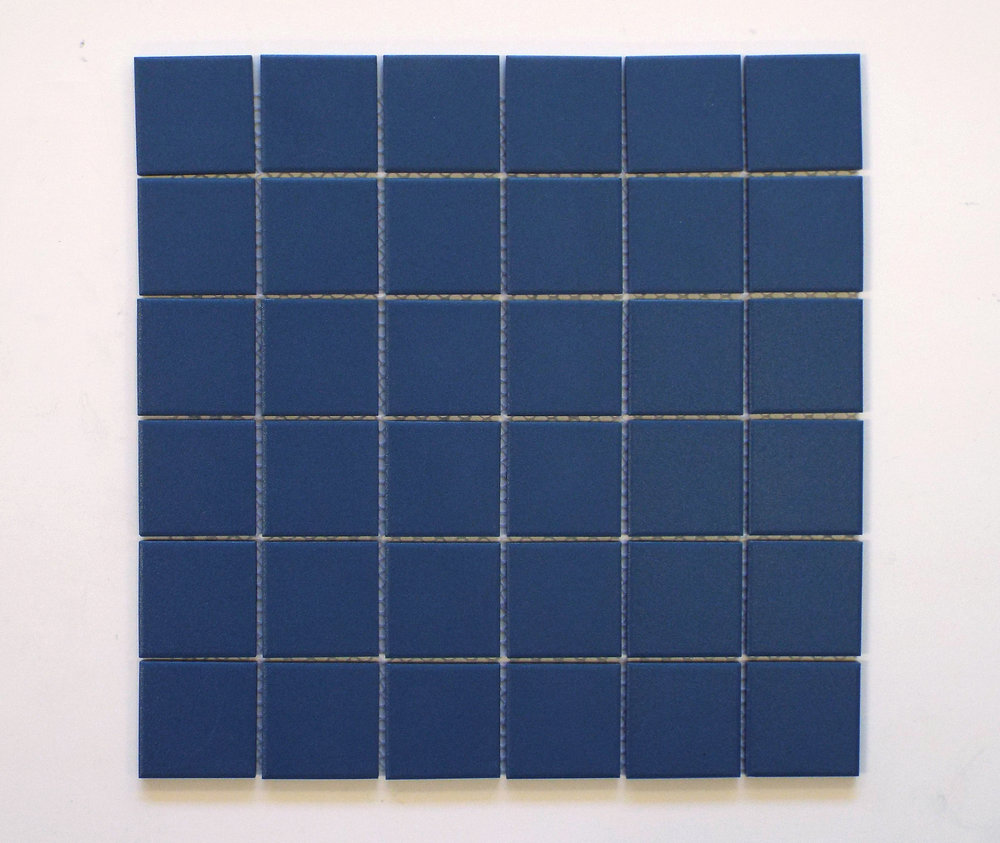 "UNGL ROYAL BLUE - 2""X2""  - New color   20 PC/CTN (20.16 SF);   54 CTN/PLT"