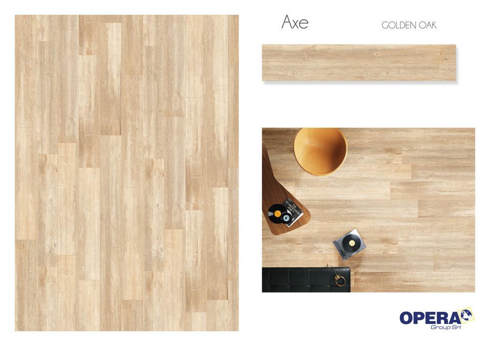 "Opera Axe -Golden Oak 8""x48""   4 PC/CTN (10.33 SF); 40   CTN/PLT"