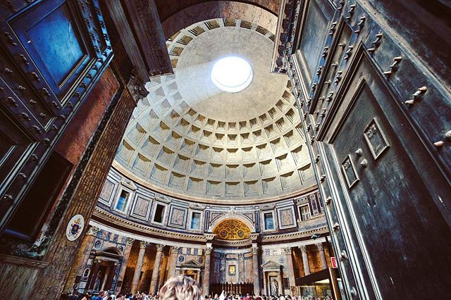 The entrance to the Pantheon.  Always learned about this place and thought it would be underwhelming. I was very wrong. Extremely breathtaking to be inside and look at this genius. . . .#photographerlife #photographyislifee #photographysouls #wanderlust #wanderlusting #traveller #travelingram #travelphoto #travels #travelstoke #travelbug #traveltheworld #travelphotography #travelawesome #losangelesphotographer  #artappreciation #romeitaly #laphotographer #pantheon #aroundtheworldpix #peoplescreative #justgoshoot #seamyphotos #ig_worldclub #endlesstraveling #ourdailyplanet #visualsoflife #bnwarchitecture #laphotography