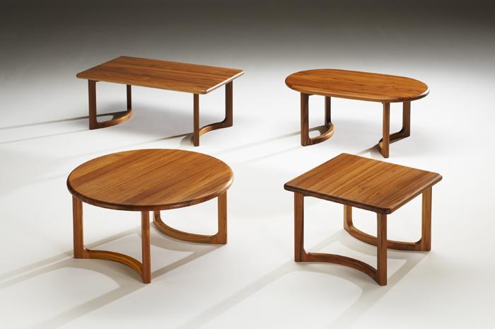 Living room contemporary and scandinavian teak furniture for Couchtisch 4 eckig