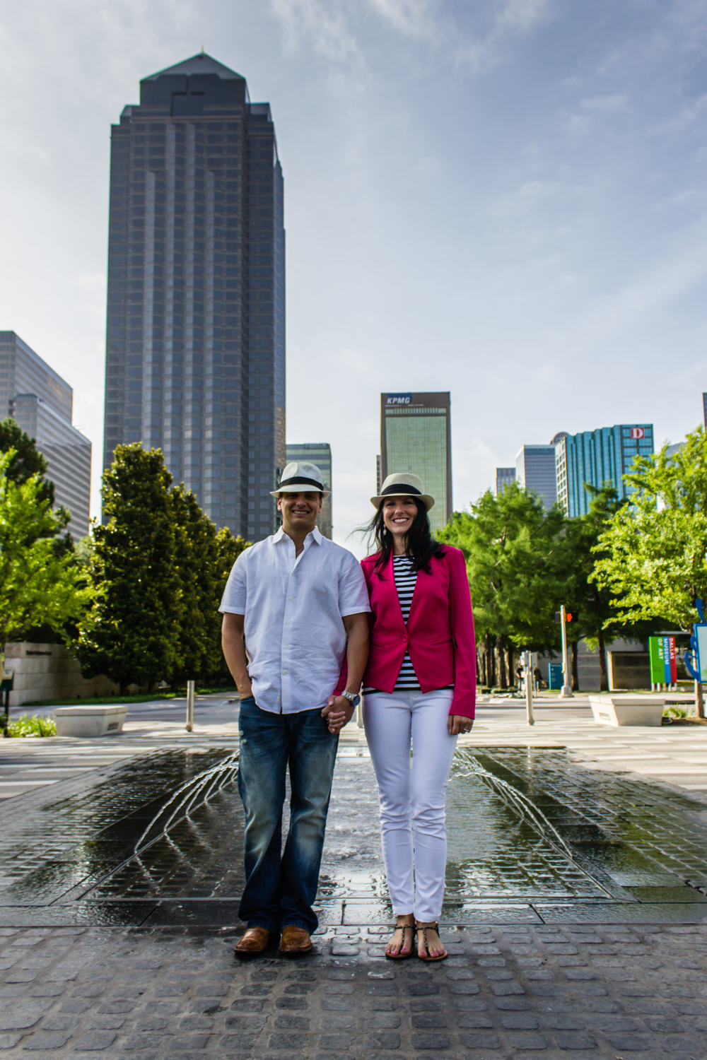 Downtown Dallas Engagement Shoot