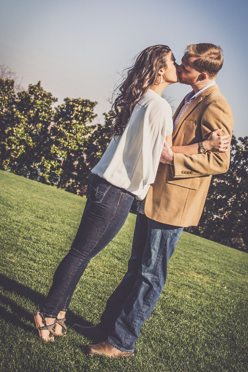 dallas arboretum engagement photographer