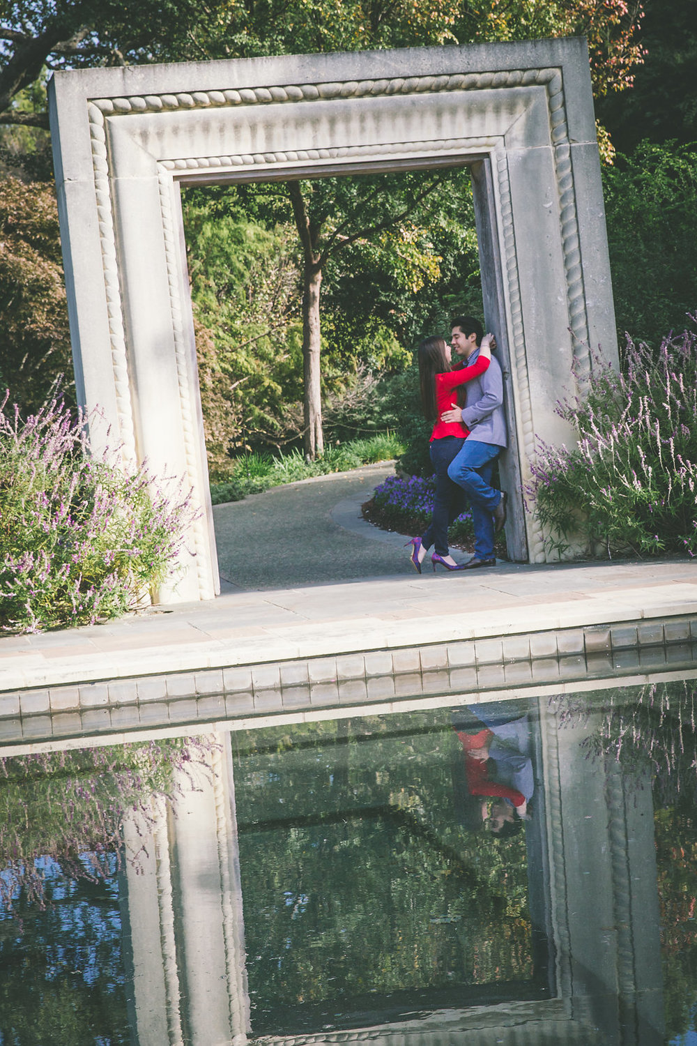 dallas arboretum engagement shoot