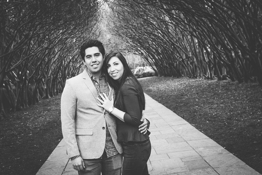 dallas arboretum engagement photos