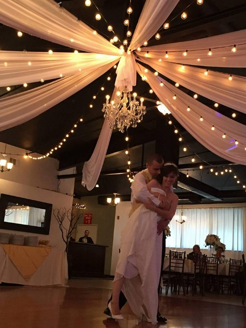 Photo taken of newlyweds first dance at Casa Bonita in Fullerton, California