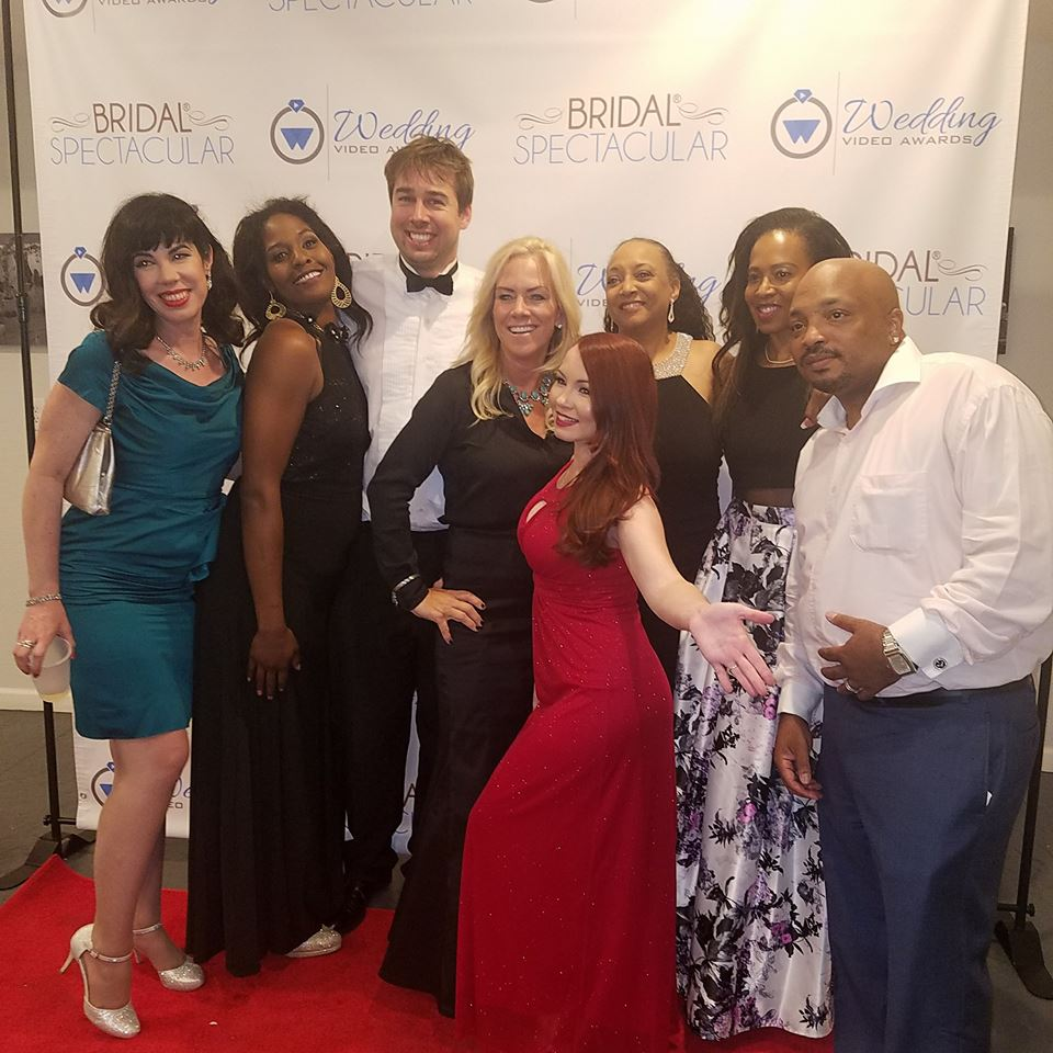 Las Vegas Wedding Vendor group photo taken at Las Vegas Wedding Video Awards 1st addition. featured in this photo is: Myself, Bryan Bratt, Tory Cooper, Regina Galeyiva, Gabriella Cote, David Shareef, Jenn Hunter and Dawn Mickens