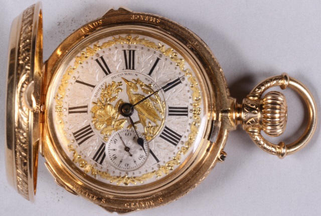 *Adolfo Ducommun 18K Gold Pocket Watch- $25,200