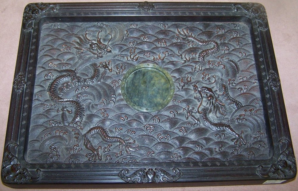 Oriental Carved Wood Tray- $15,600