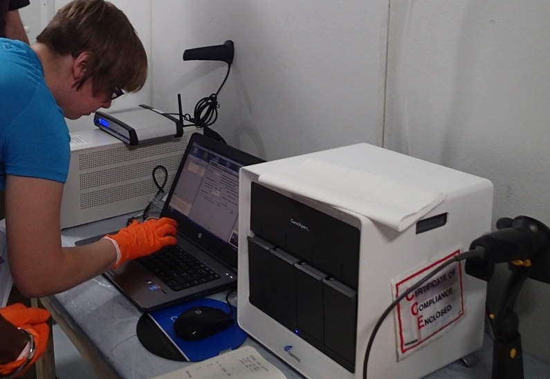 Forecariah Ebola Treatment Unit Laboratory, Guinea - SystemOne software platform installed in 15 minutes.
