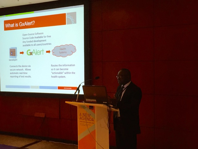 Kehinde Jimoh Agbaiyero, Senior Technical Advisor - TB, Abt Associates, presents GxAlert at the 2015 Union Conference