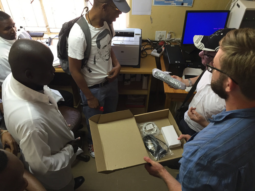 The SystemOne team installs 2G/3G data capabilities in a remote lab in Swaziland