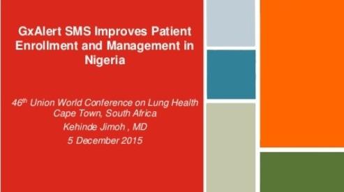 December 2015 |Union Conference: GxAlert SMS Improves Patient Enrollment