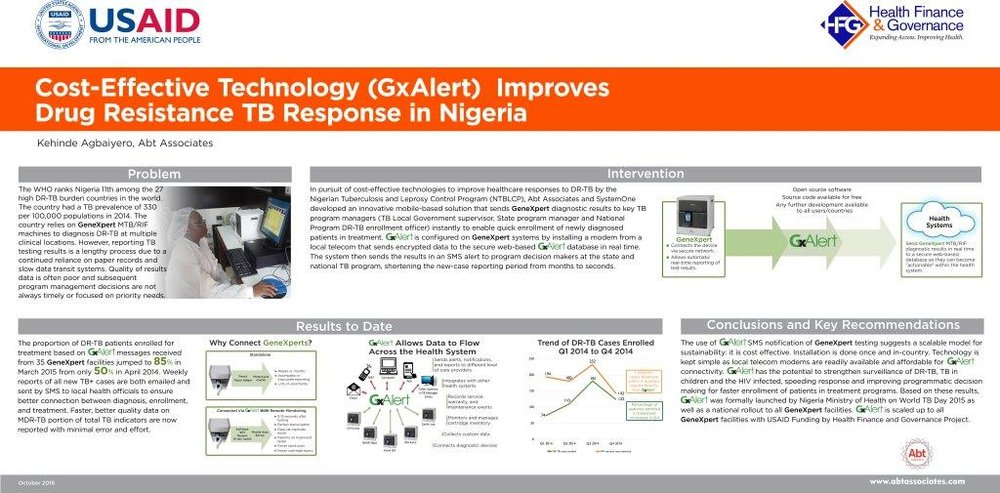 October 2016 | Cost Effective Technology (GxAlert) Improves Drug-Resistance TB Response in Nigeria