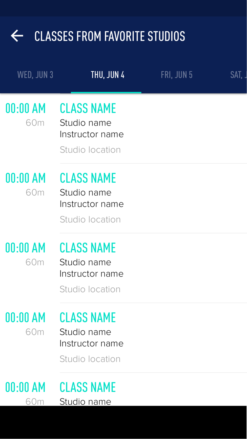 My ClassPass - Favorites Full.png