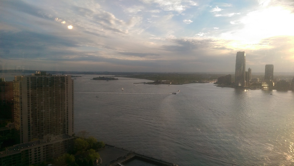 The view from AMEX's 26th floor auditorium.