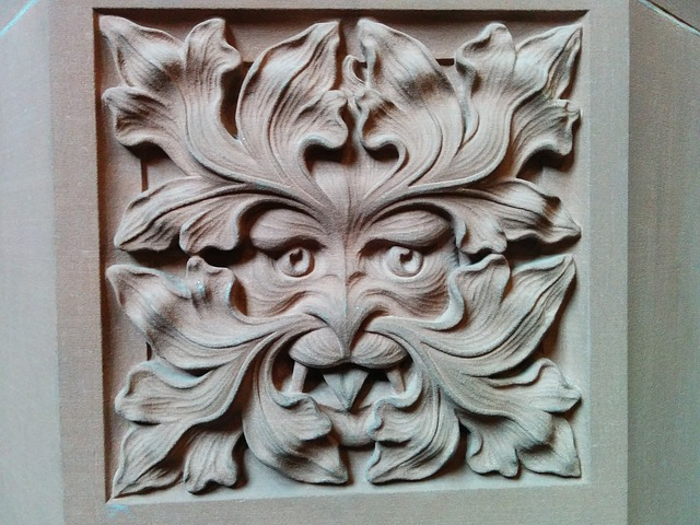 The Green Man from John Rylands library