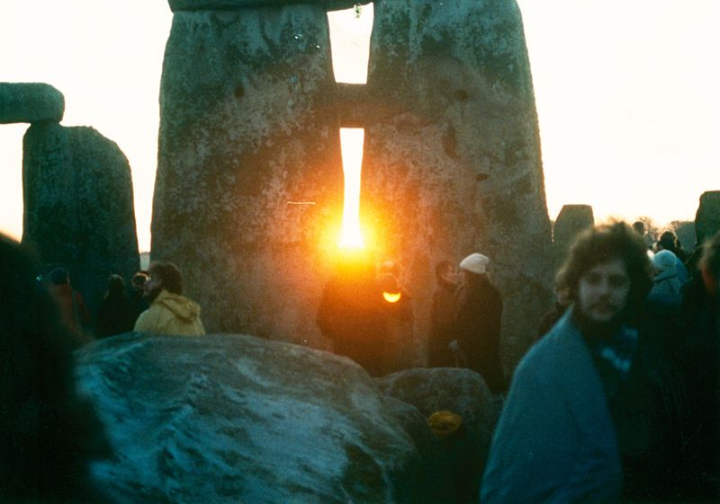 photo by Mark Grant -Stonehenge Winter Solstice Sunrise 1980s
