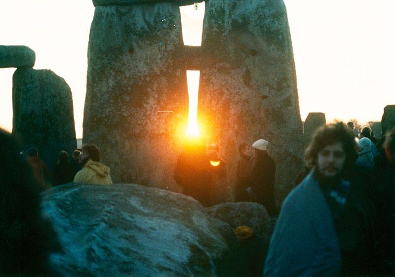 photo by Mark Grant -Stonehenge Winter Solstice Sunrise 1980s