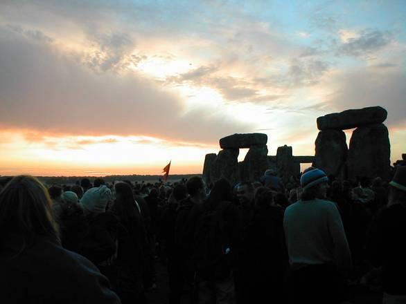 FreeImages.com Umberto Cigognini -- Stonehenge Solstice crowd