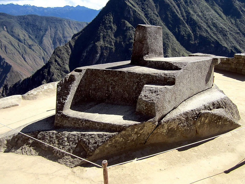 The last Intihuatana of the Incan people is in Machu Piccu, Peru- photo by David Stanley