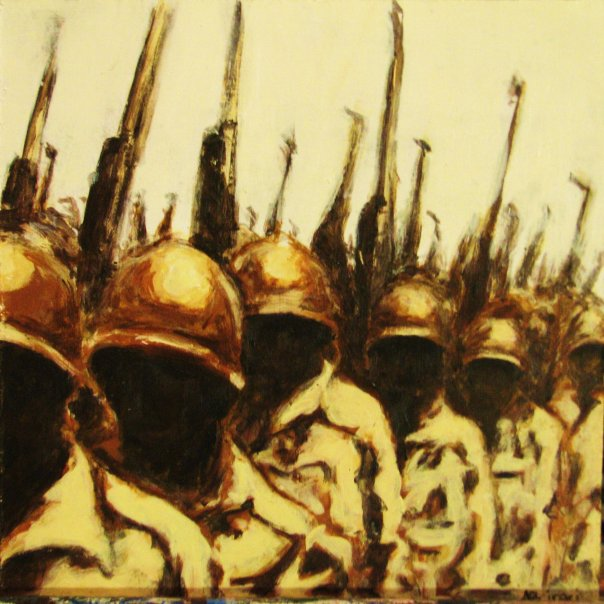 Troops. Acrylic on wood. 2009.