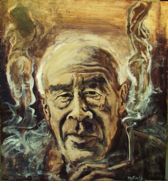 Henry Miller. 2009. Acrylic on wood.