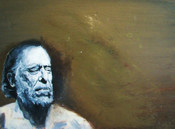 Bukowski. Oil on wood. 2008.