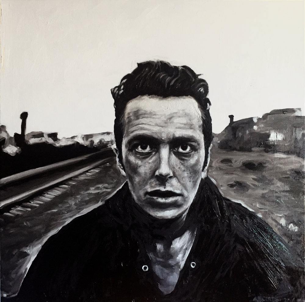 Joe Strummer. Oil on canvas. 2016.