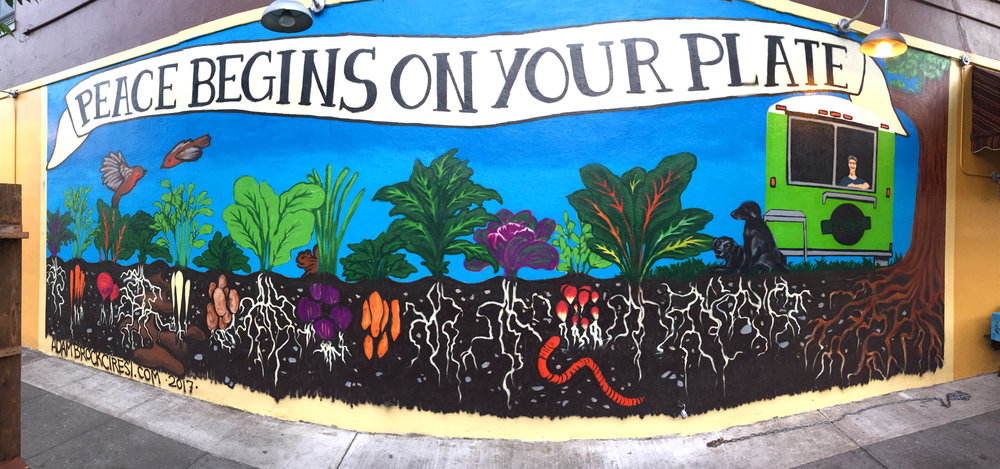 Peace Begins on Your Plate. 40' x 12'. 2017.