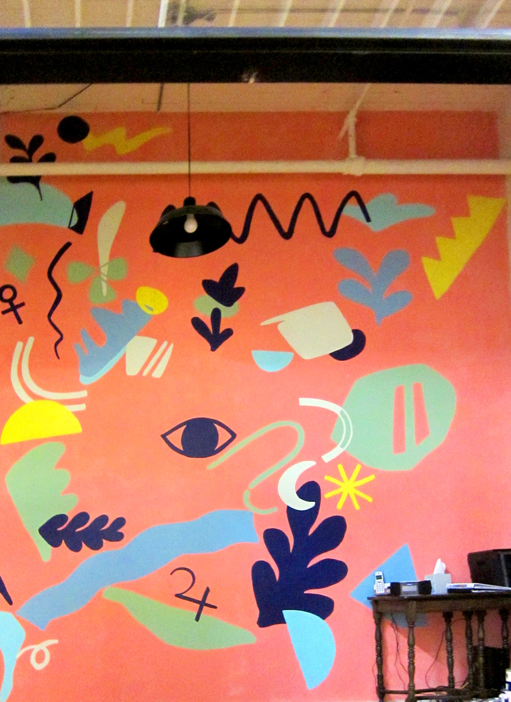 Open Hand Mural. 14' x 16'. 2018.