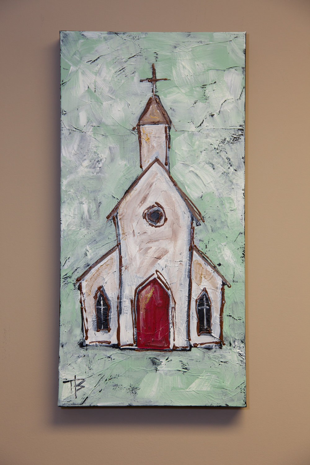 Untitlted    12 x 24 Mixed Media on Canvas   by Tiffany Brightwell