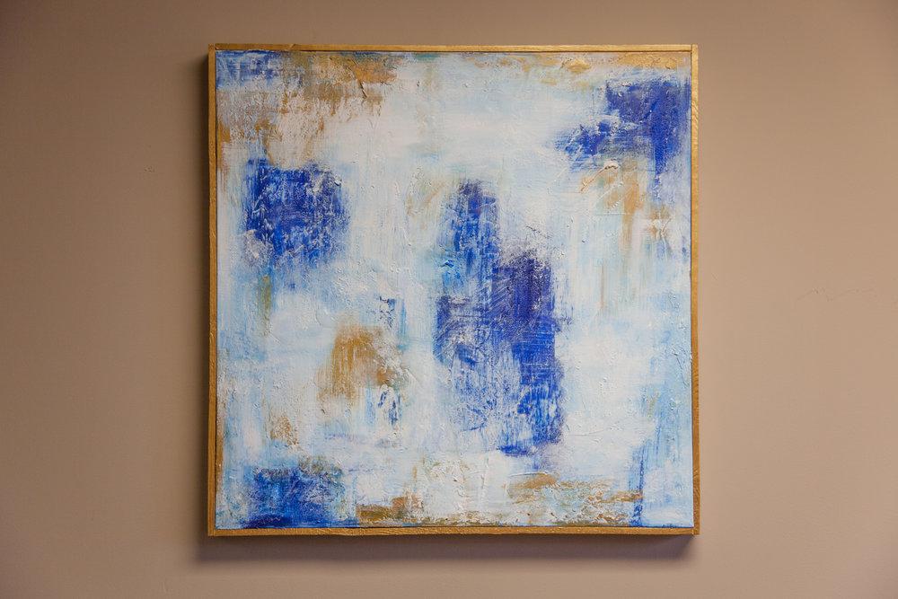 """""""Rainy Day""""    24 x 24 Acrylic on Canvas   by Jess Lovelace"""