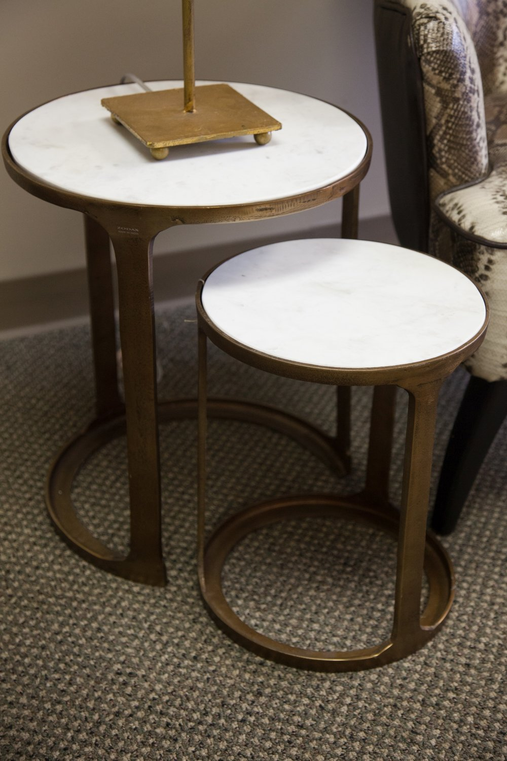 The perfect pair...marble and gold nesting tables