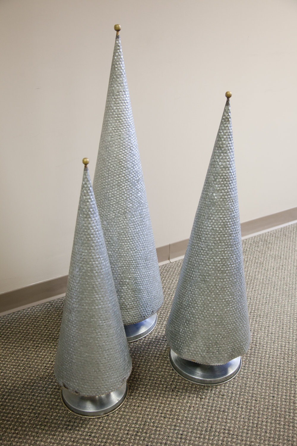 Galvanized topiaries ... Perfect for your outdoor living space or holiday decor. Large, medium and small available. All are sold separately.