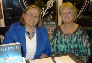 "Linda and her ""muse"" for ""Words of Conviction,"" Sharon Smith."
