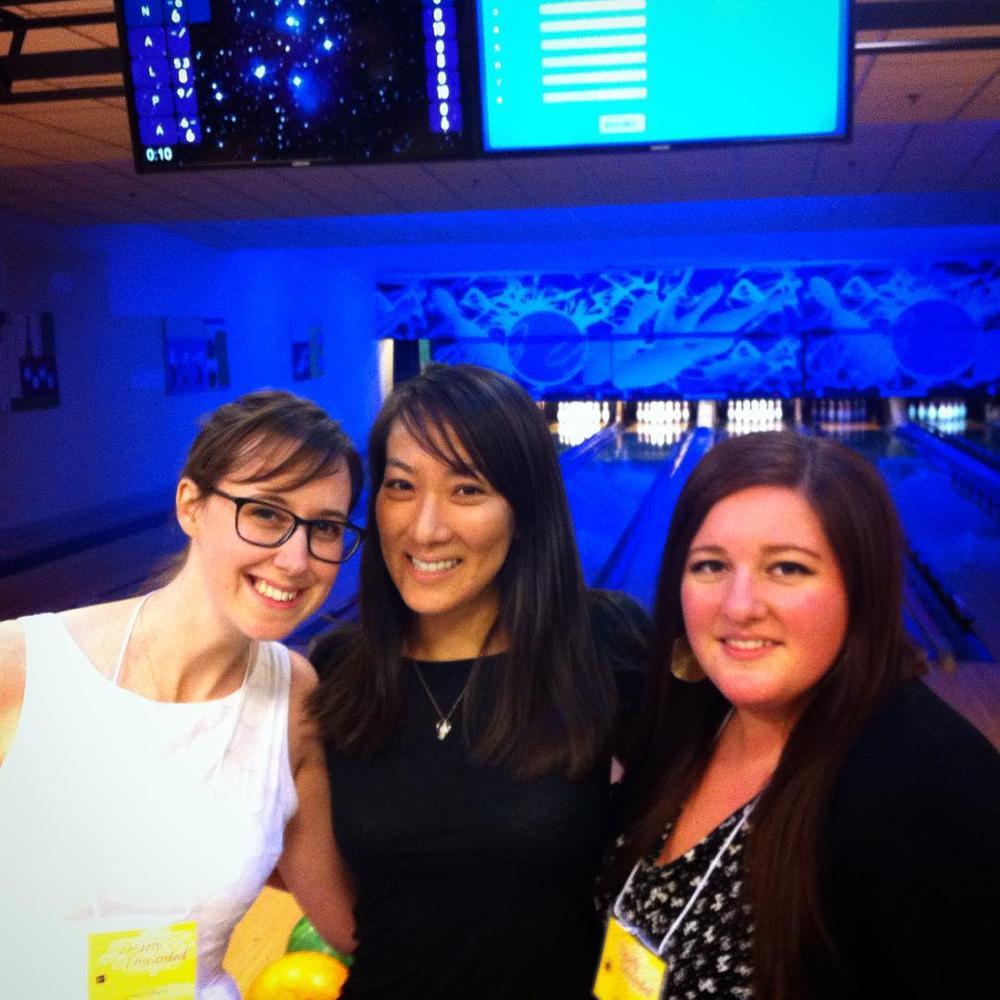 Evening designers weekend bowling with designers Alice Lee and Lauren Meranda