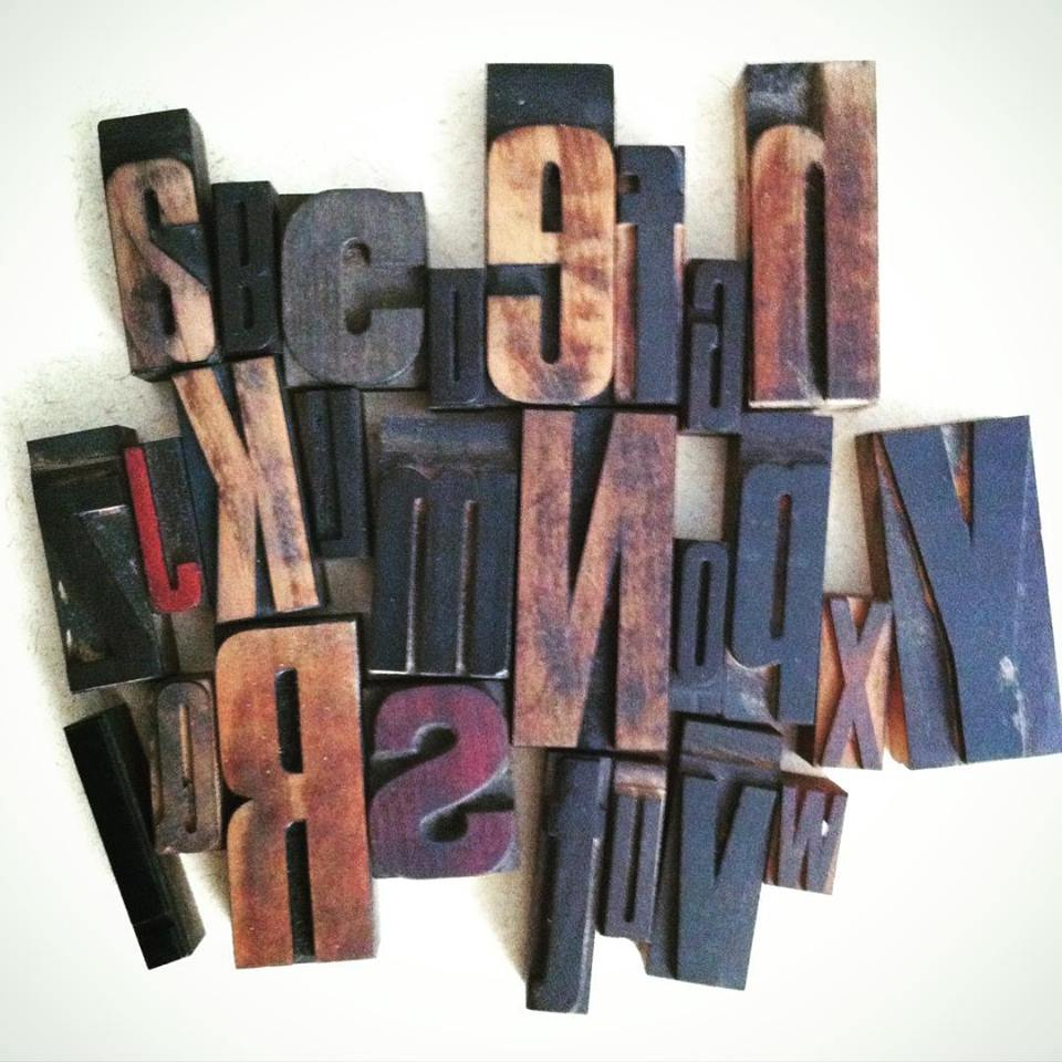 Randomly selected alphabet of wood type ordered from Ebay.