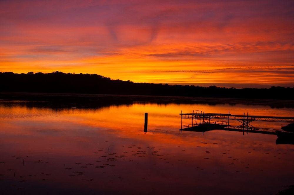 Sunset at Camp Wandawega.